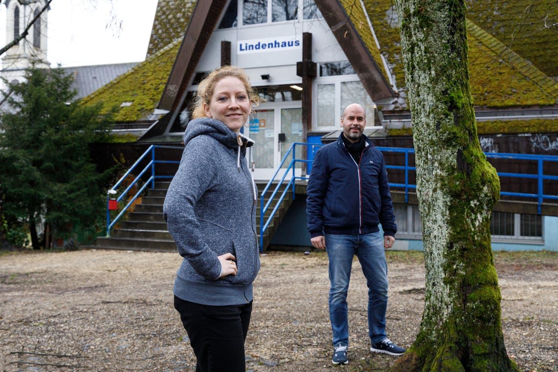Jugenhaus Lindenhaus Jahresrückblick: v. l. Tamara Moser, Matthias Meier-Moreno.